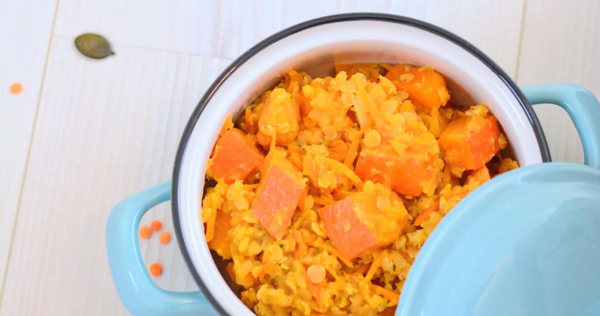 Rote Linsen Kürbis Curry - ein Herbstgericht