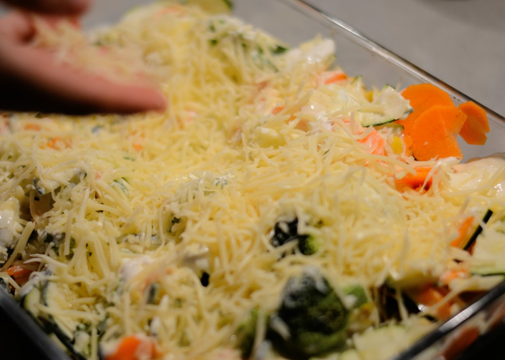 Gemüse mit Käse
