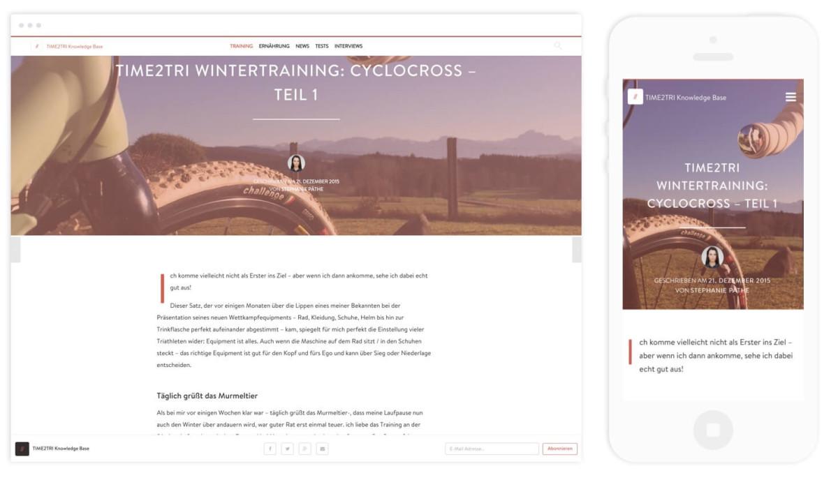 Knowledge Base Artikel auf Desktop und Mobile