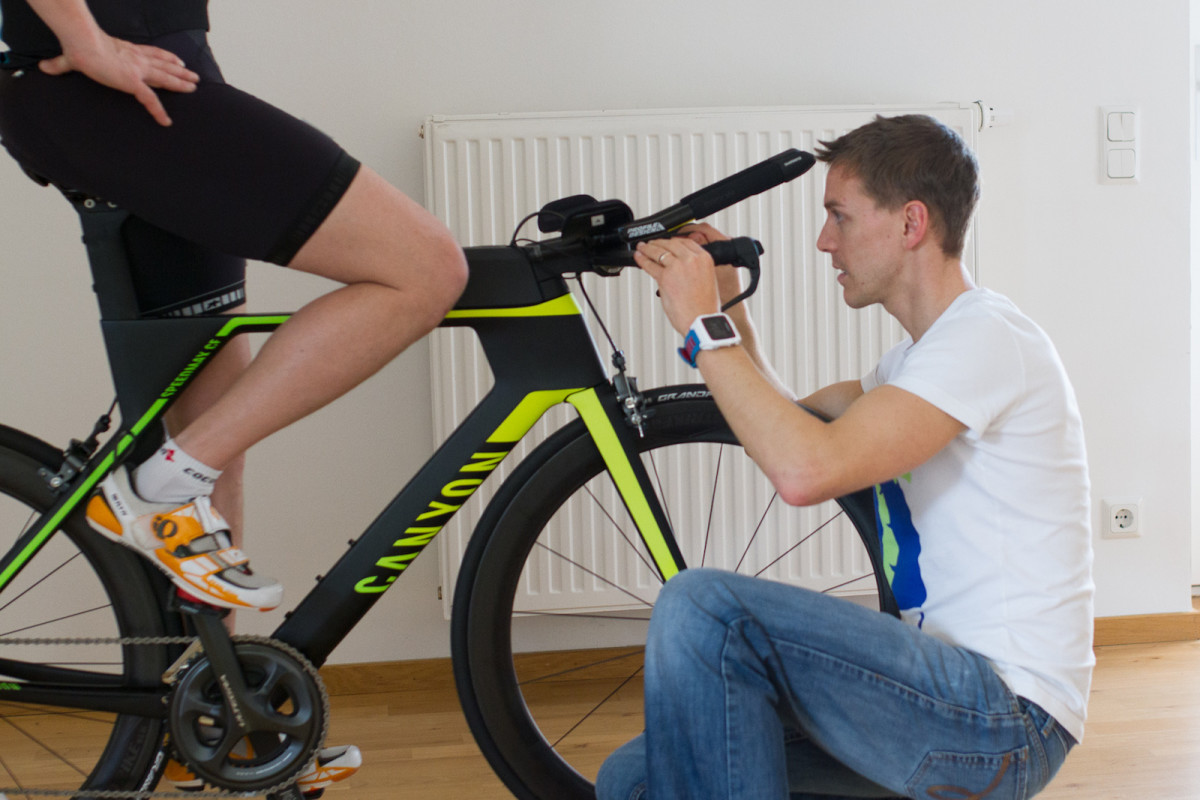 Bikefitting am Lenker