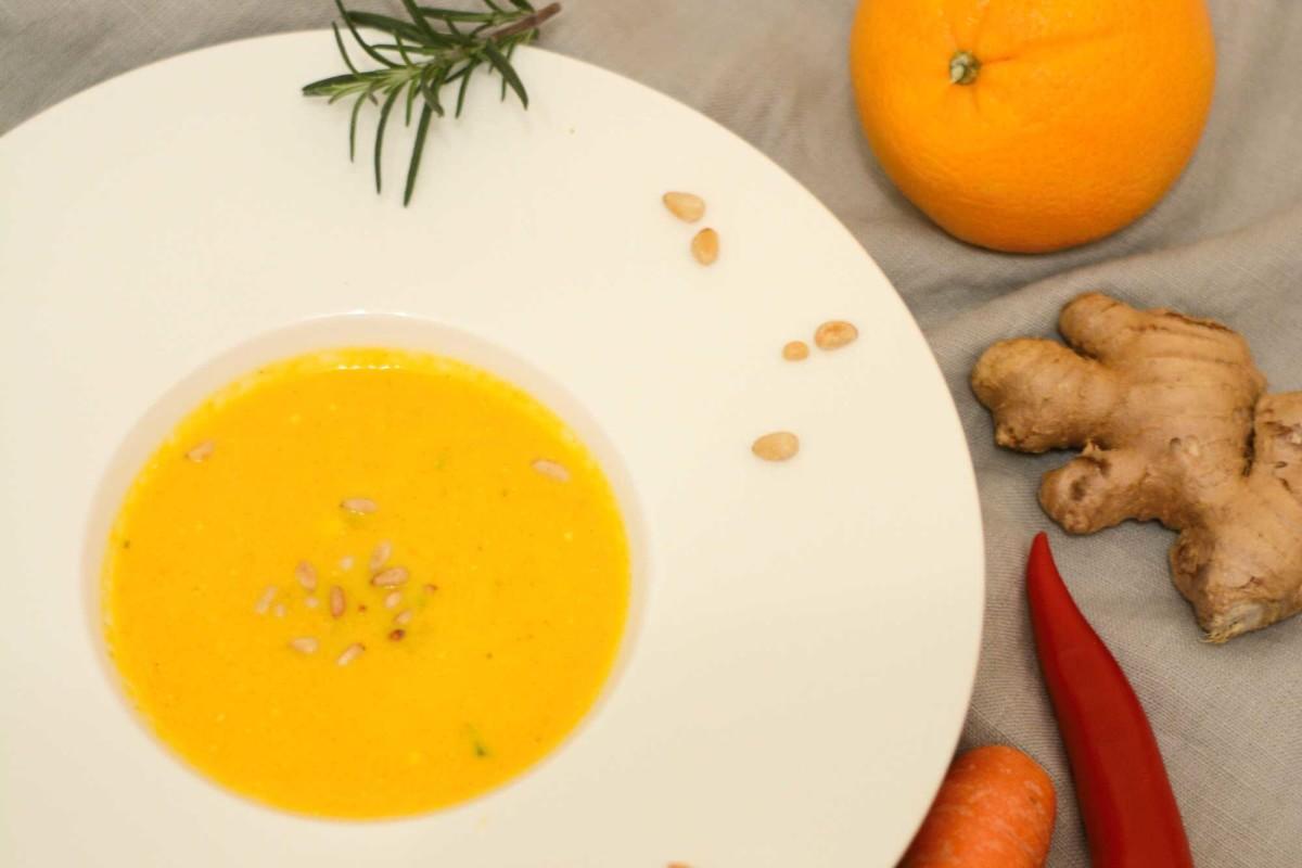 Karotten Ingwer Orangen Suppe