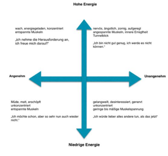 Vier Energiefelder