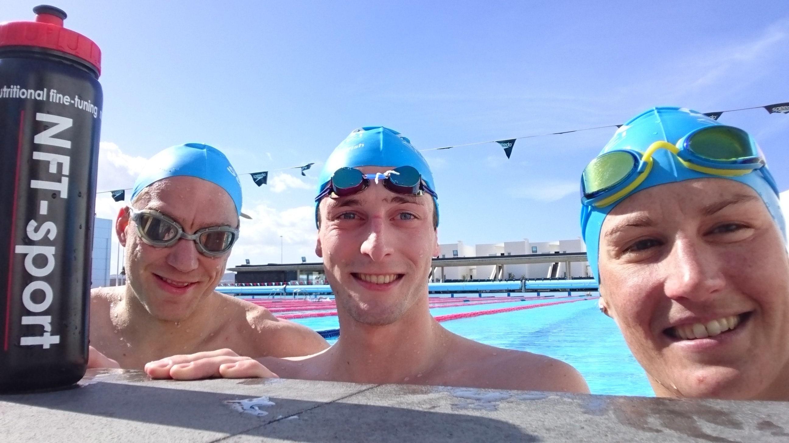 Carolines Athleten: Nils Frommhold, Florian Angert und Julia Gaier