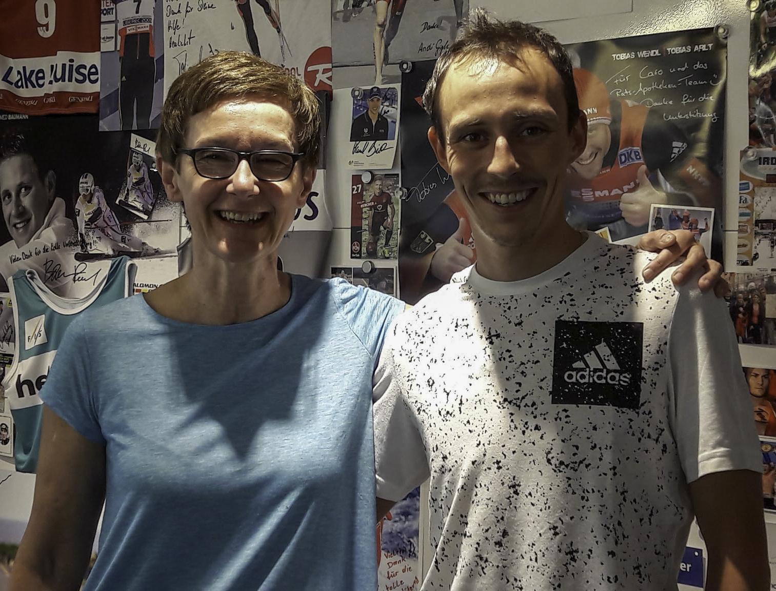 Caroline Rauscher mit Athlet Eric Frenzel