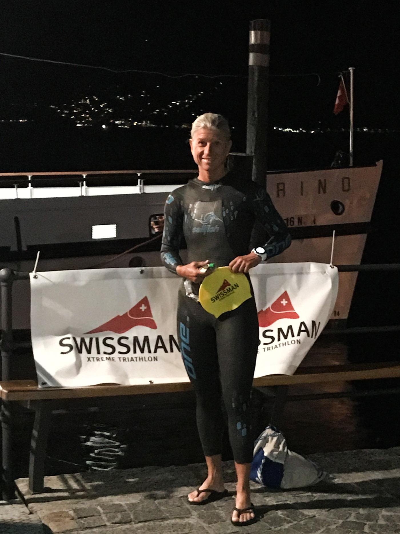 Dominique Chassot vor dem Schwimmstart