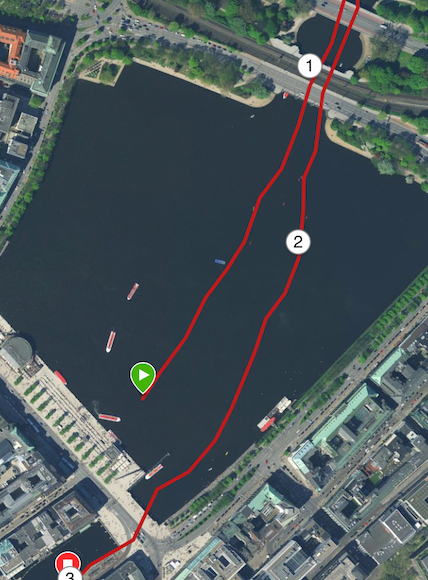 Im Zickzack in die T1: Christophers Schwimmstrecke in Hamburg