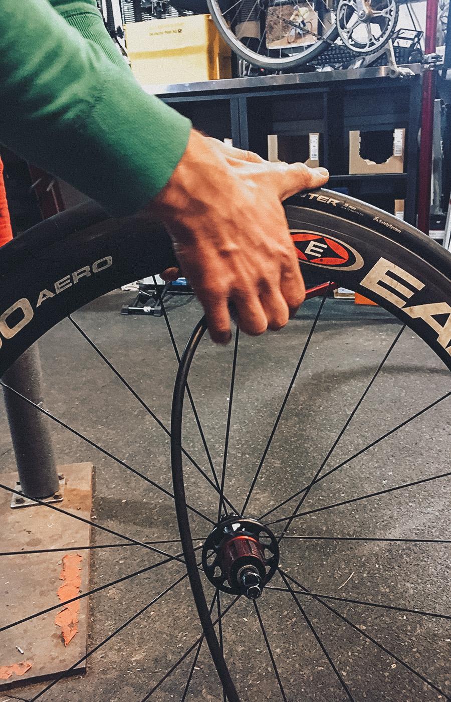 Wartung der Wettkampflaufräder