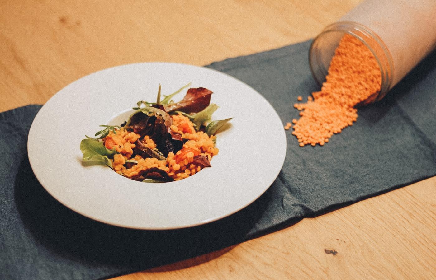 Unser Rote Linsen-Salat: einfach und schnell zubereitet