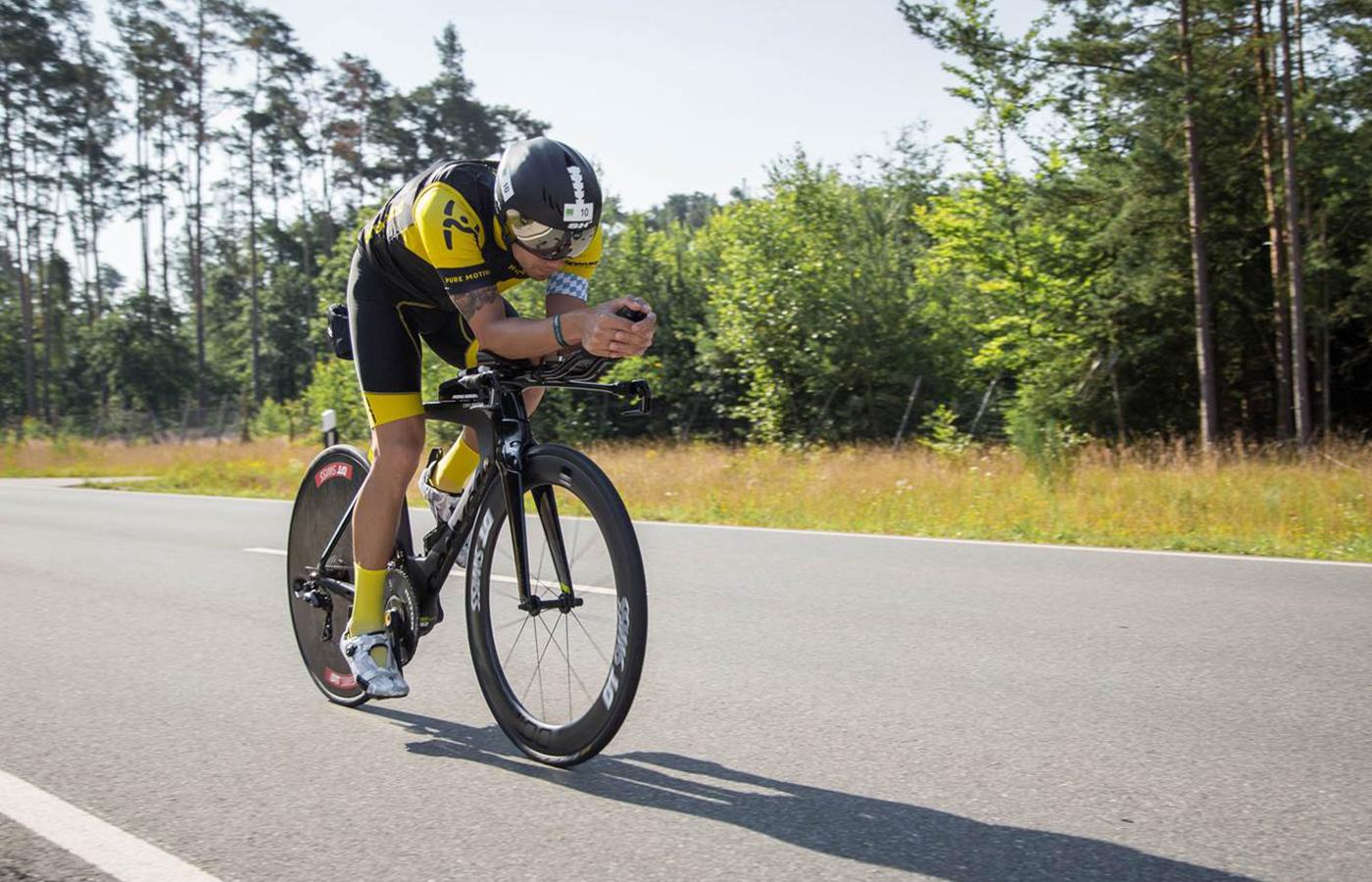 Markus auf der Radstrecke