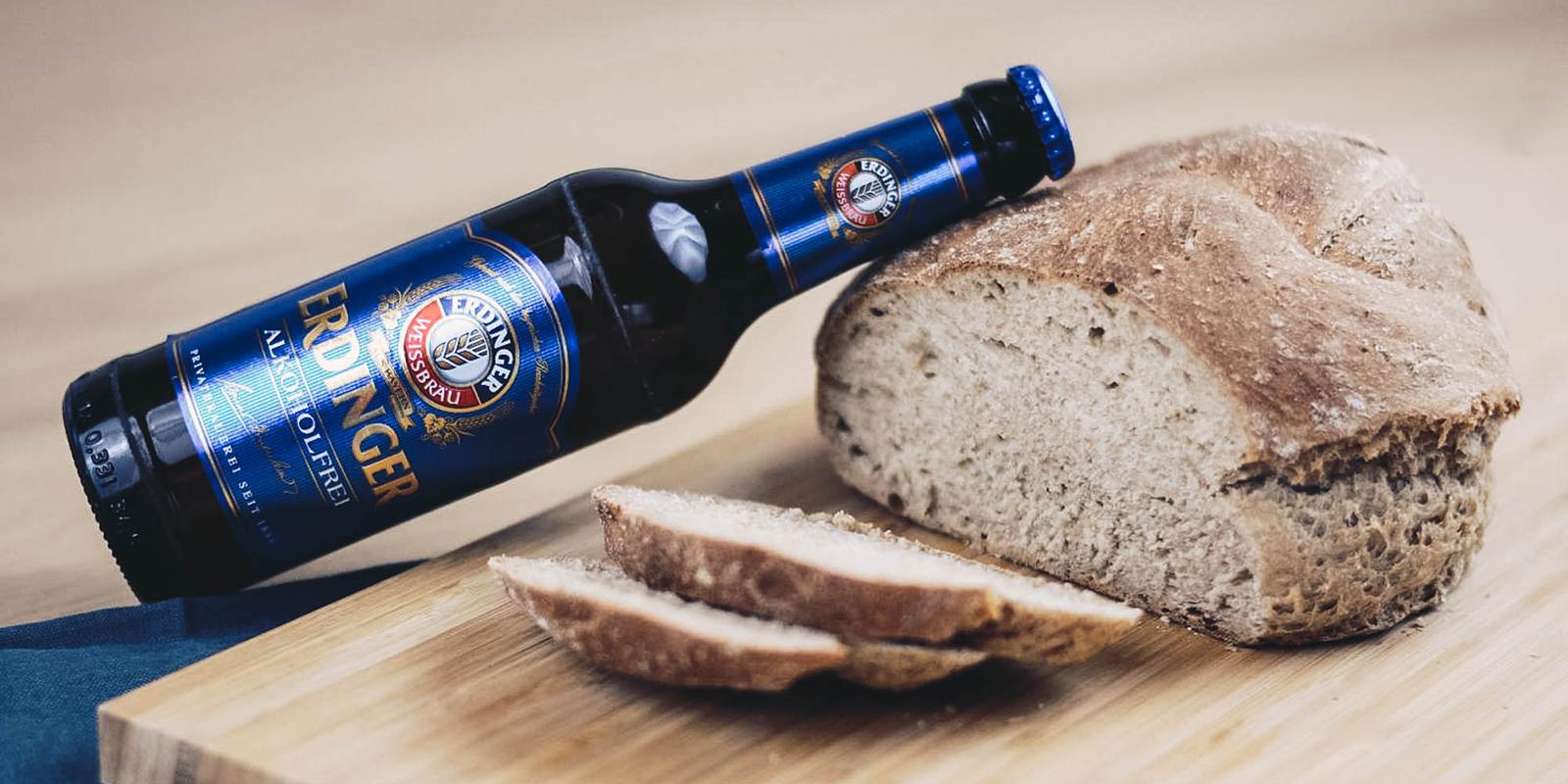 Bierbrot – Brot backen mit Erdinger Alkoholfrei