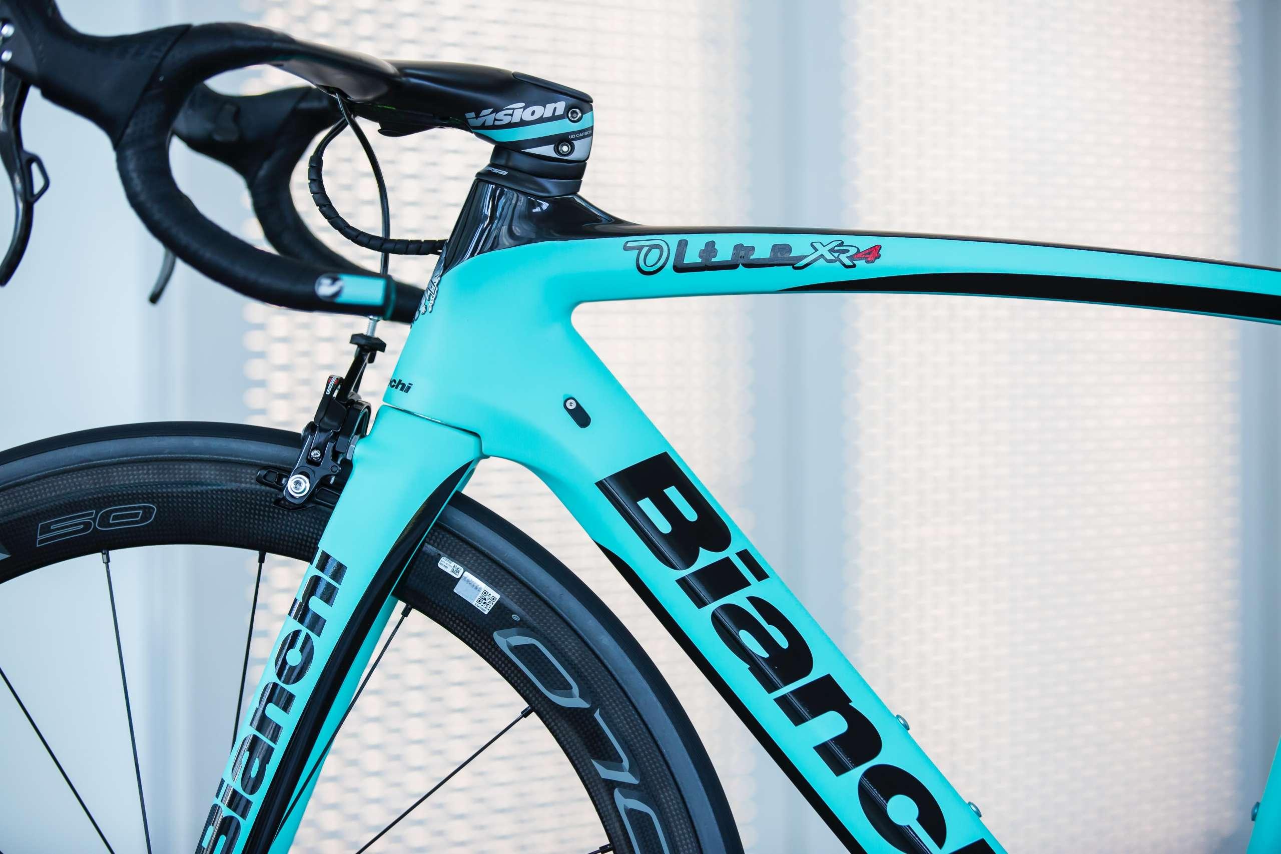 Der Rahmen des BIANCHI OLTRE XR4 / Bildquelle: Bianchi Bilddatenbank