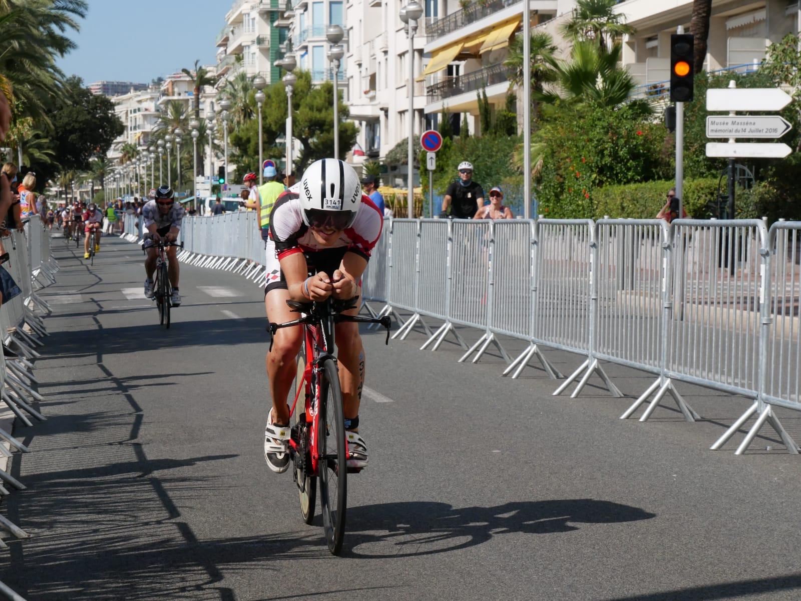 Simon hatte auf der Radstrecke großen Spaß