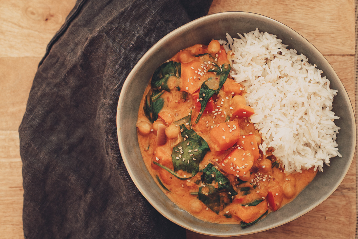 veganes Kichererbsencurry
